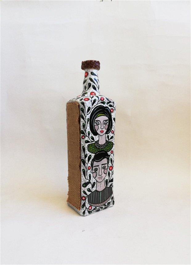 Sticla decorativa/ Vaza - Indragostiti