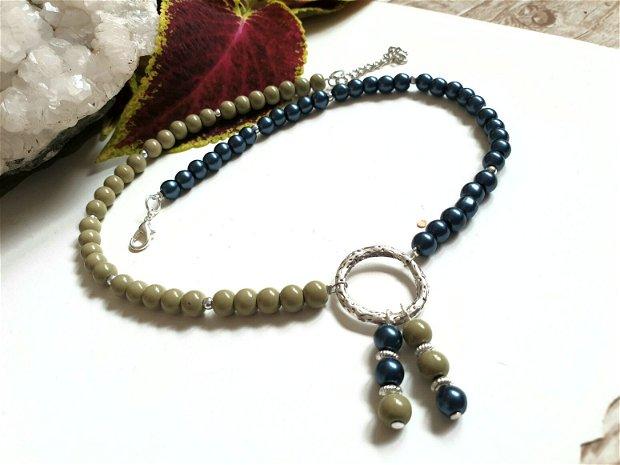 Colier perle cu zamac