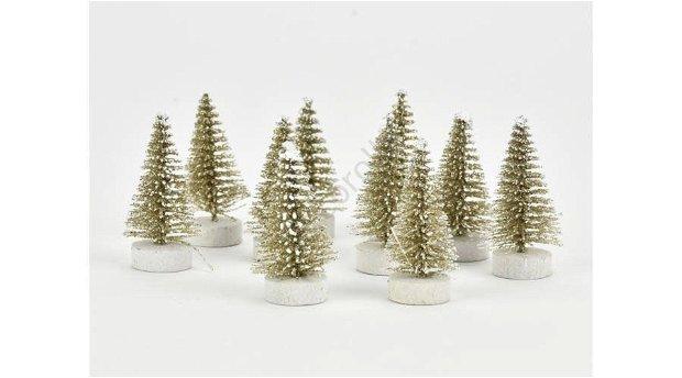 Bradut decorativ - aur alb- 4cm