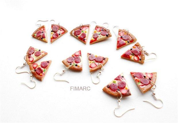 ''Felii de Pizza'' - cercei atarnatori