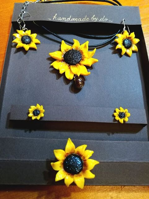 Bijuterii floarea soarelui