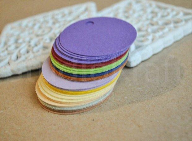 50b taguri rotunde din carton colorat