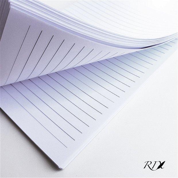SERVICIU de PERSINALIZARE - Interior jurnal A5 (320 pag) - hârtie albă liniată