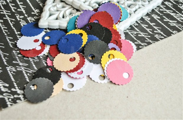 100b. Taguri rotunde colorate
