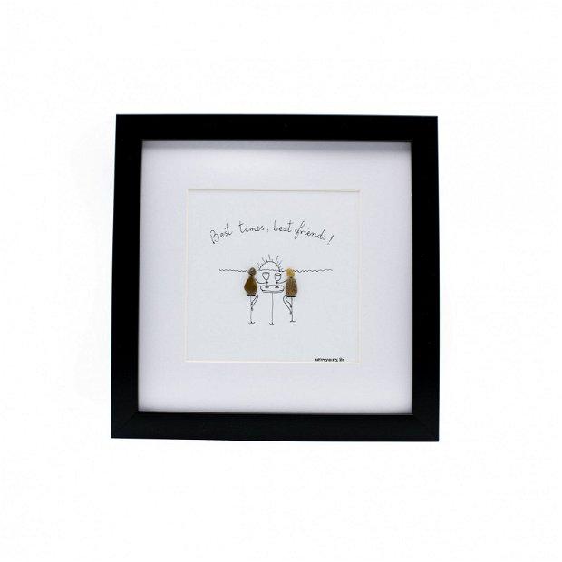 Tablou Best Friends - Colectia Pebble Art