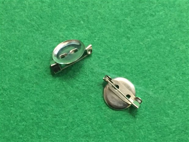 Baza brosa argintiu inchis 15 mm ( 1 buc )