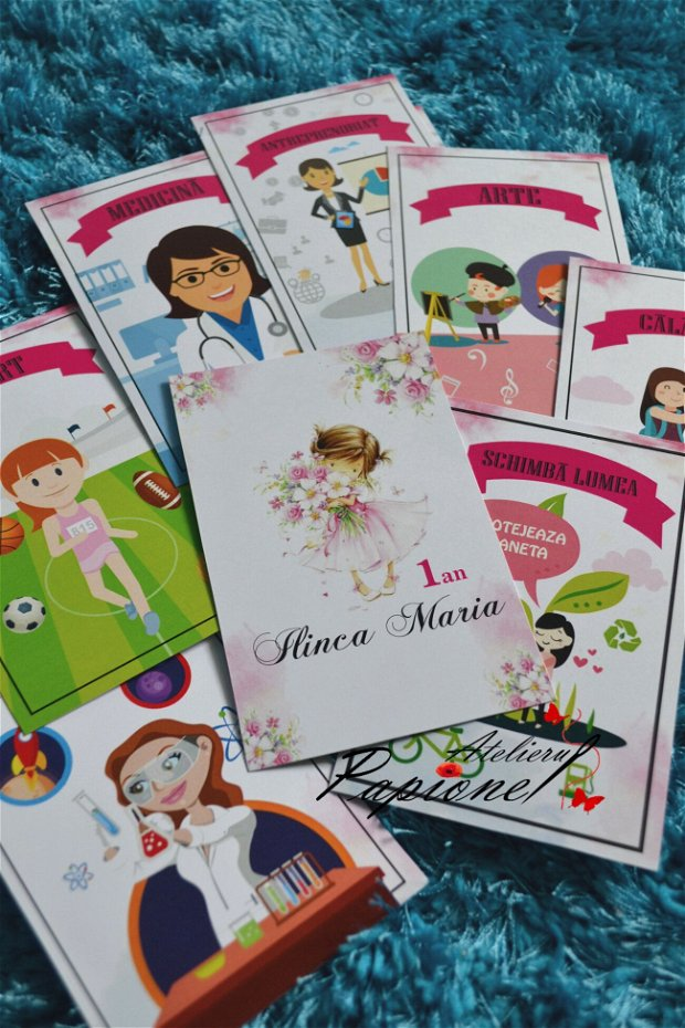 Set cartonase meserii 1 an fetita