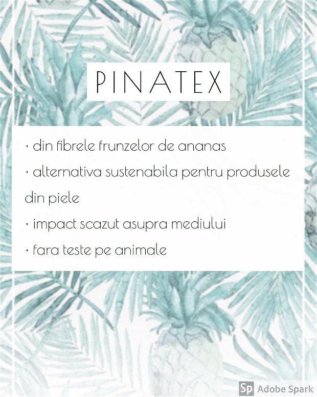 "Portofel MiniP ""AD15"" din Pinatex / piele din ananas, slim, personalizat prin gravura"
