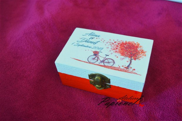 Cutiuta verighete toamna bicicleta