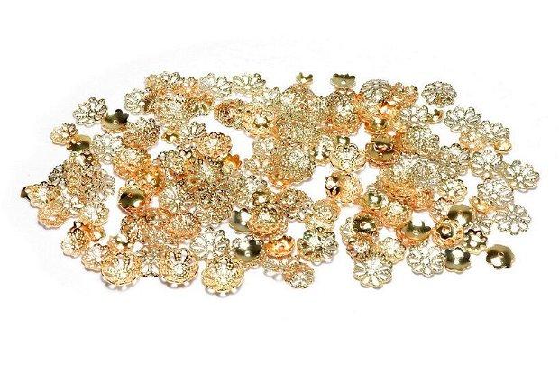 Capacele metalice, filigranate, aurii