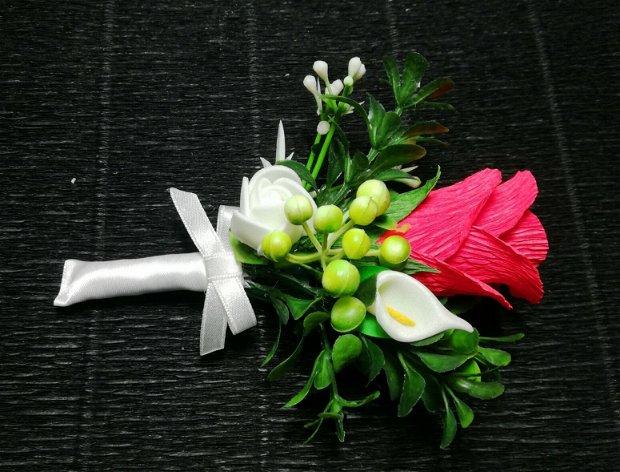 Cocarde nunta tip brosa (flori de piept)