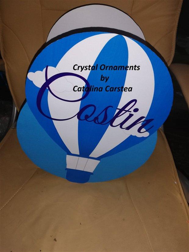 Cutie de dar botez balon cu aer cald / travel
