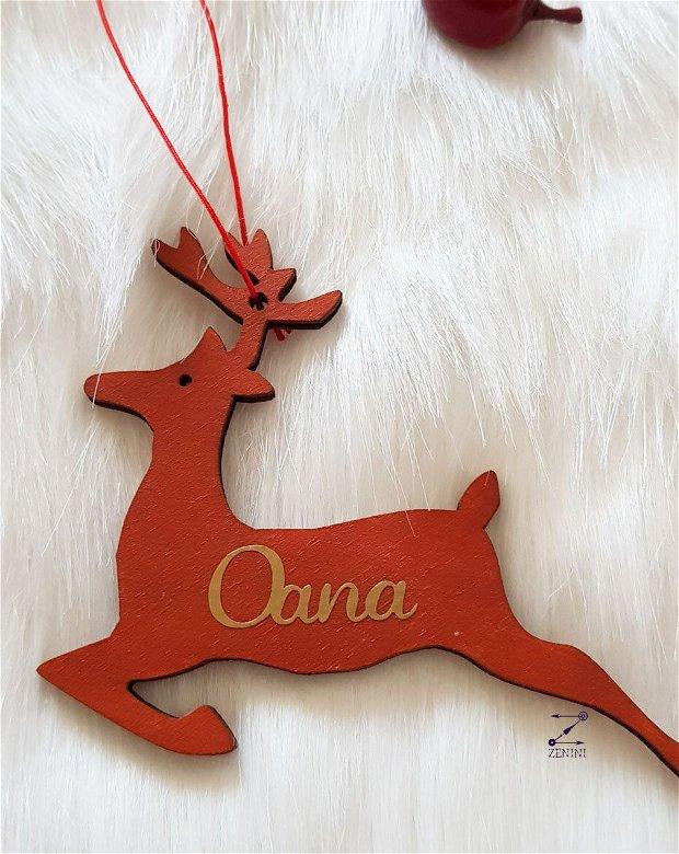 Ornament brad familie, decoratiune membrii familiei, ornament personalizat familie, decoratiune craciun, glob personalizat