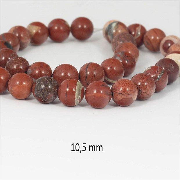 Jasp Rosu natural, 10,5 mm, V2