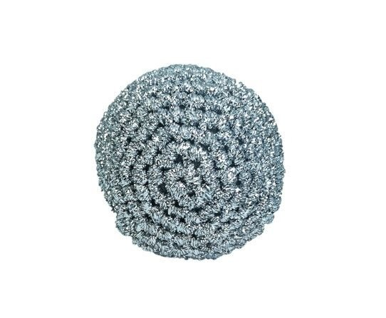 Glob Craciun, Handmade, Crosetat, Argintiu, 5 x 5 cm