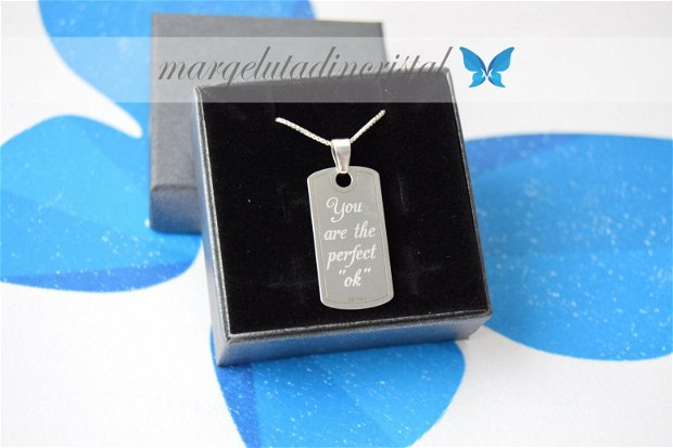 Lantisor / Personalizat/ Argint 925 - Placuta Army