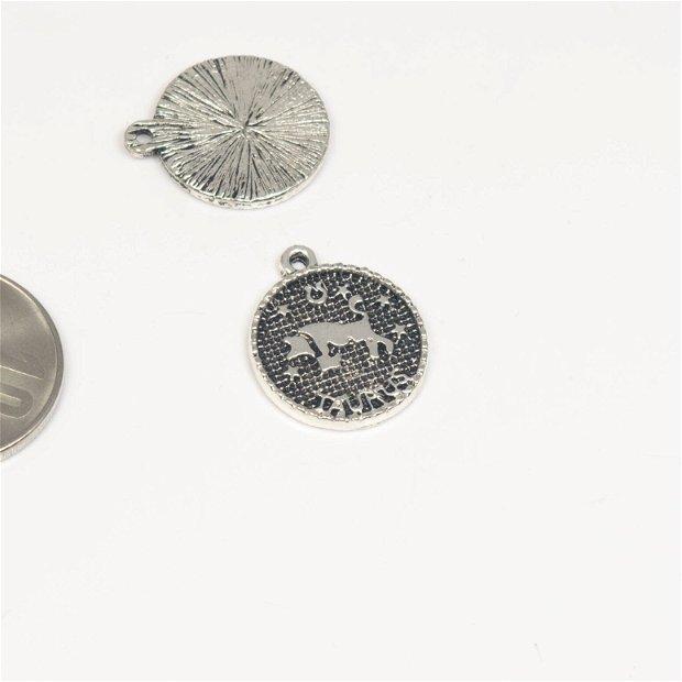Charm zodie, din zamac, 16 mm, AD 357