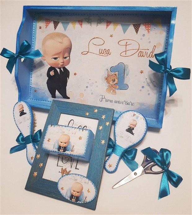 Set pentru mot / prima aniversare cu tema Baby Boss