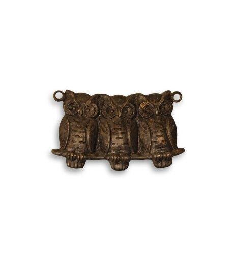 Charm bronz 22x11.5mm - Perched Owls
