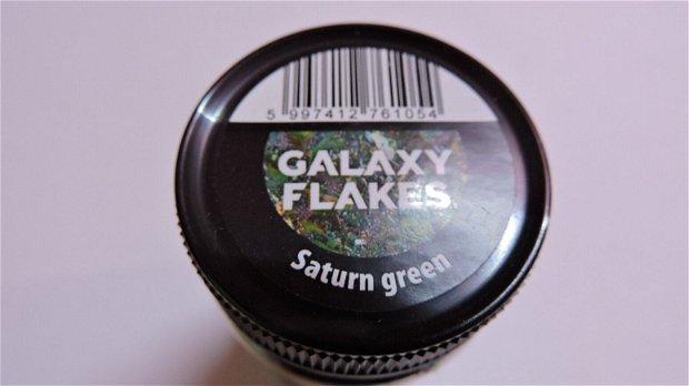 Fulgi decorative Galaxy Flakes- Saturn green