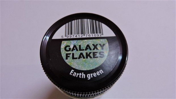 Fulgi decorative Galaxy Flakes- Eatrh green