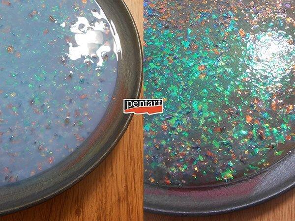 Fulgi decorative Galaxy Flakes- Venus magenta
