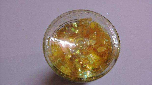 Fulgi decorative Galaxy Flakes- Pluto yellow