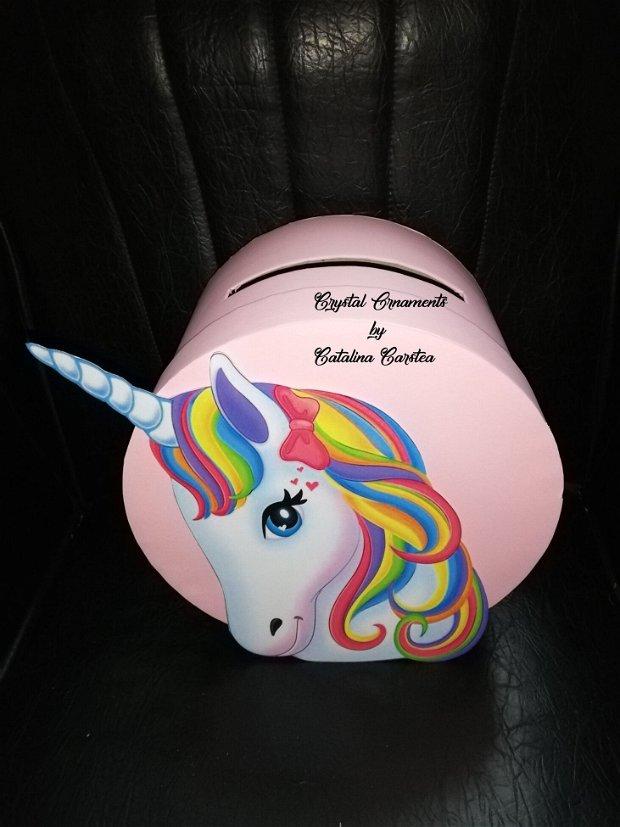 Cutie de dar / Cutie de bani  / Botez / Unicorn