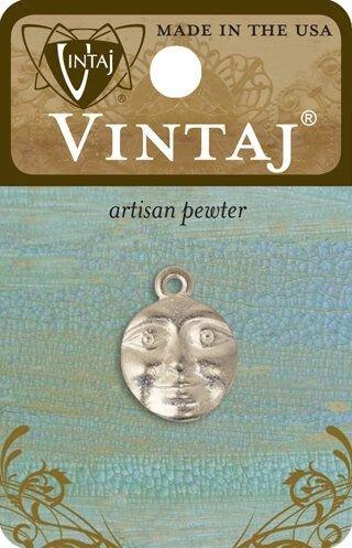 Vintaj Artisan Pewter - 21x15mm Charming Guise
