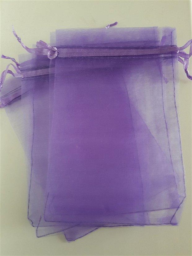 Săculeț organza mov 15x9,6cm