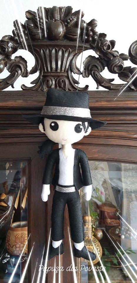 Michael Jackson - papusa handmade din fetru