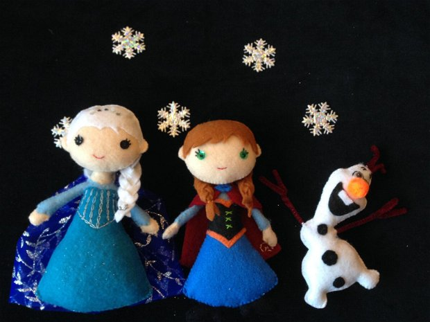 Printesa Elsa, papusa handmade din fetru.