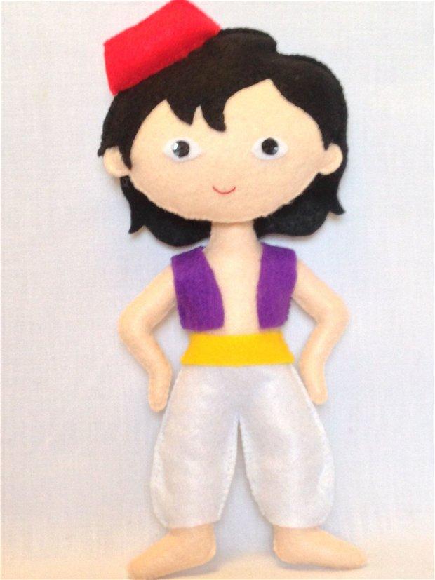 Aladdin, personaj Disney handmade din fetru