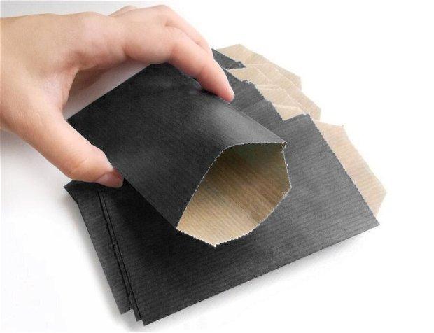 Plicuri hartie / Plicuri pentru bijuterie - 20 buc - Negru