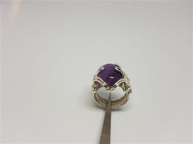 Inel handmade , inel din argint 925 , inel cu piatra naturala.