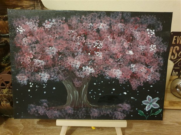 Tablou copac Cires inflorit