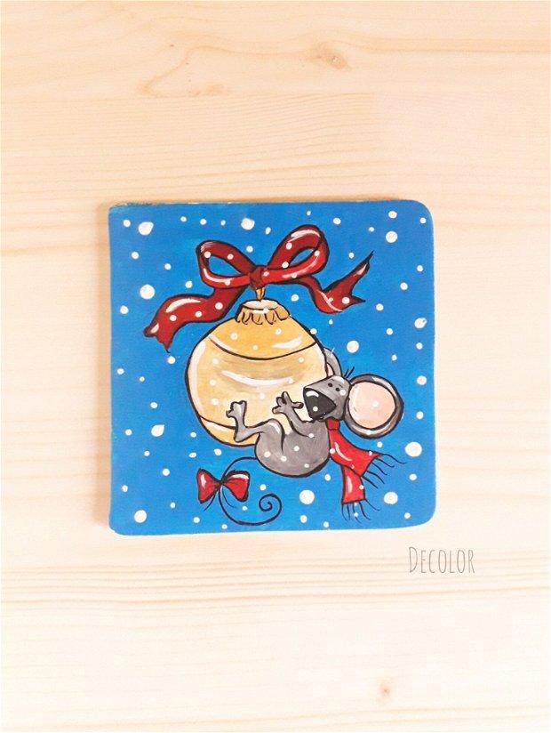 Magnet de Crăciun - pictat