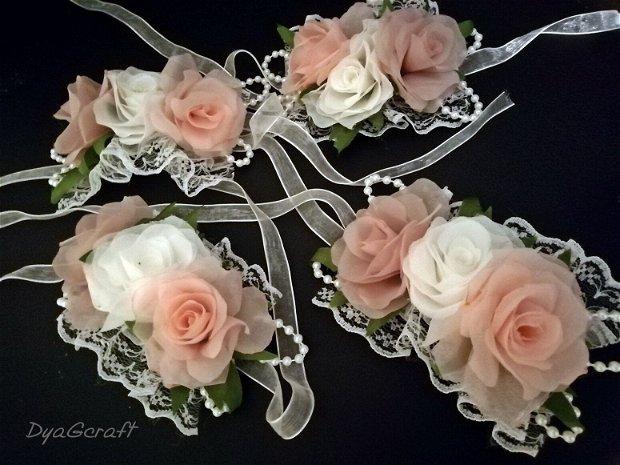 Bratari domnisoare onoare trandafiri