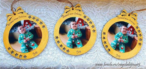 Ornamente CRACIUN Personalizate cu POZA