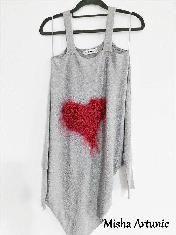 Inima pufoasa - bluza reinventata