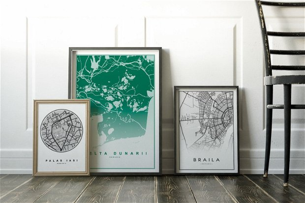 Harta Digitala personalizata pentru print, Oras Cluj Napoca, Poster download JPEG