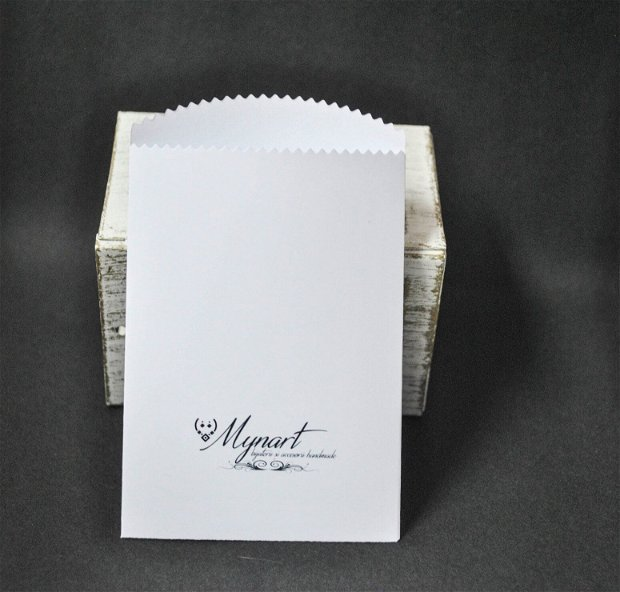 Set 40 pungute logo personalizat print alb- negru