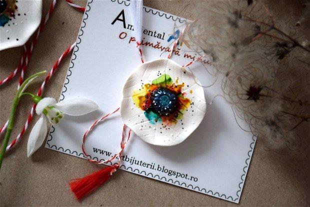 Martisor Brosa Maci Albi - Martie, Martisor - Ambiental ART - Goa Spring Collection