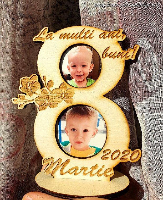 Cadou personalizat 8 Martie - mesaj si poze