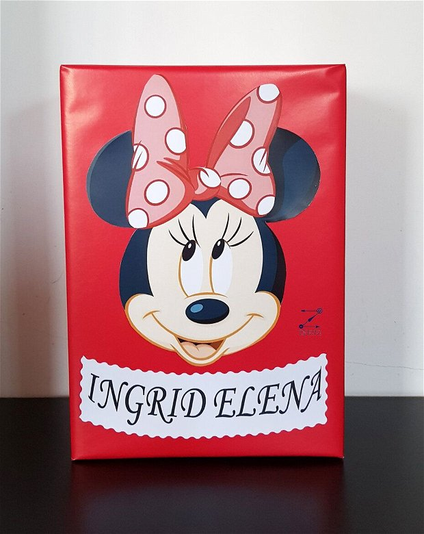Cutie dar botez Minnie Mouse, cutie bani Minnie, cutie bani botez
