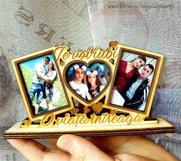 Rama foto personalizata - Mesaj Gravat