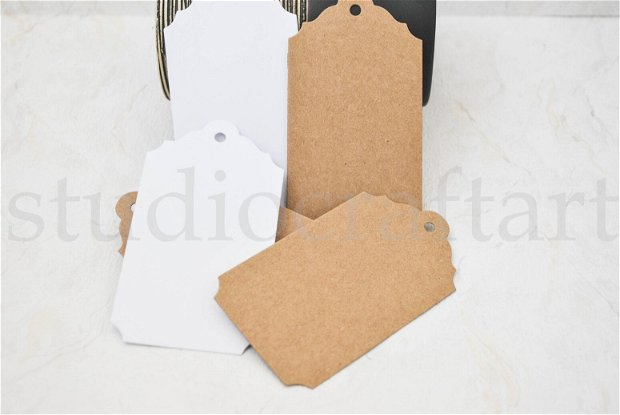 25 buc taguri  din carton