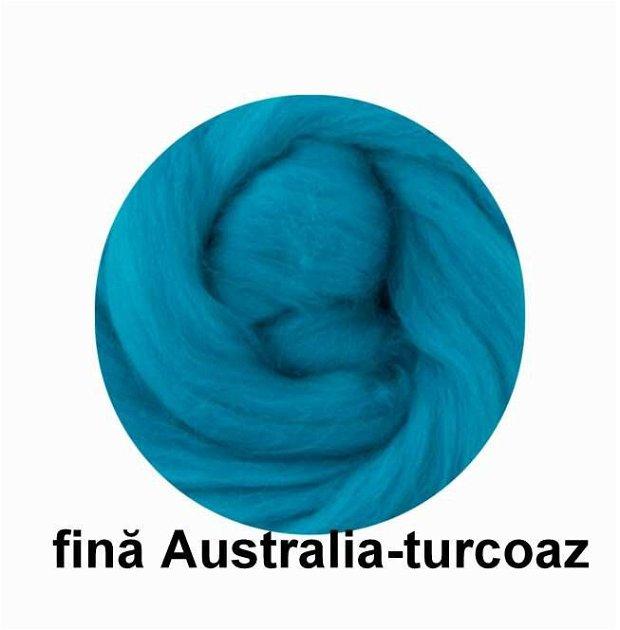 lana fina Australia-turcoaz