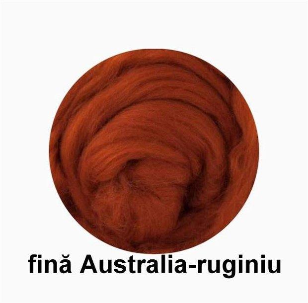 lana fina Australia-ruginiu