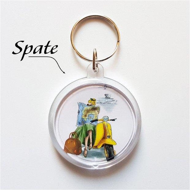 CĂLĂTORIE - Set cadou (breloc + saculeț + felicitare)